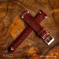 AND2 Classy Nutella Brown Leather Strap 20mm