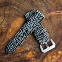 Two Tone Grey Shark strap with Black Stiching 24mm