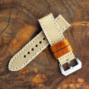 MILI Beige Canvas strap with Beige Stitch