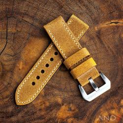 Chamonix Dark Gold Leather strap 24mm