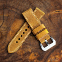 Chamonix Dark Gold Leather strap 24mm
