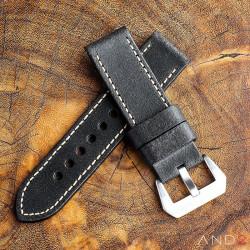 Chamonix Vintage Dark Chocolate Leather Strap 24mm