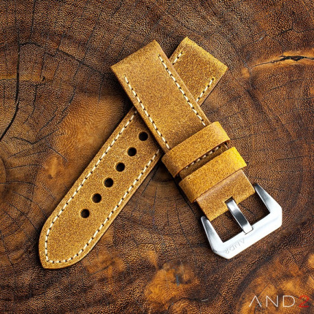 Chamonix Brass Leather strap 24mm