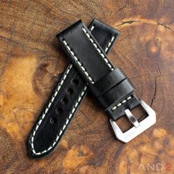 Douglas Nero Black Leather Strap 24mm