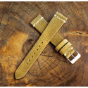 Chamonix Dark Gold Leather 19mm (White Cross Stitching)