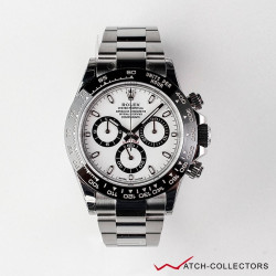 Rolex Daytona Ref 116500LN White dial Ceramic bezel.