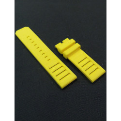 Yellow Silicone strap.