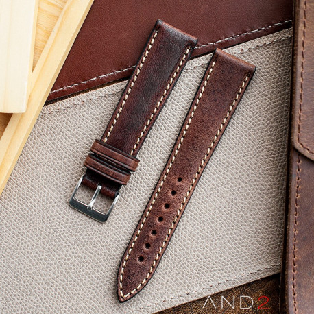 Kingsley Chocolate Leather Strap 19mm
