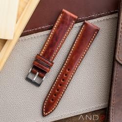 Kingsley Saddle Brown Leather Strap 19mm