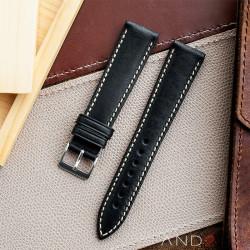 Kingsley Blackout Leather Strap 20mm