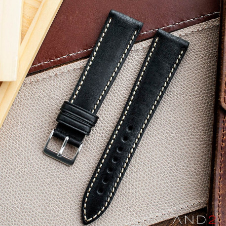 Kingsley Blackout Leather Strap 22mm