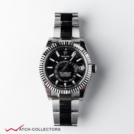 Rolex Oyster Perpetual Sky-Dweller Steel Black dial circa 2018