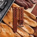 Speedy Racing Chestnut Leather Strap(Beige Stitching)