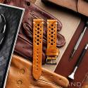 Speedy Racing Cognac Leather Strap (Beige Stitching)