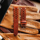 Speedy Racing Saddle Brown Leather Strap2 (Beige Stitching)