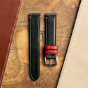 Speedy Black Leather Strap Red Loop