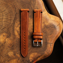 Speedy Cognac Leather Strap