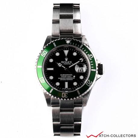 Rolex Green Kermit Submariner Ref 16610LV Rehaut Circa 2007