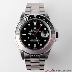 Rolex GMT Master II Ref 16710 U serial Ghost bezel insert Circa 1996