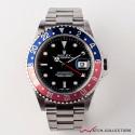 Rolex GMT Master II Ref 16710T F Serial No Pin Hole Circa 2003