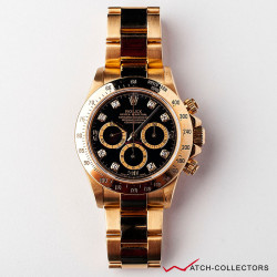 Rolex Zenith Daytona Ref 16528 18K Diamonds Index Circa 1997