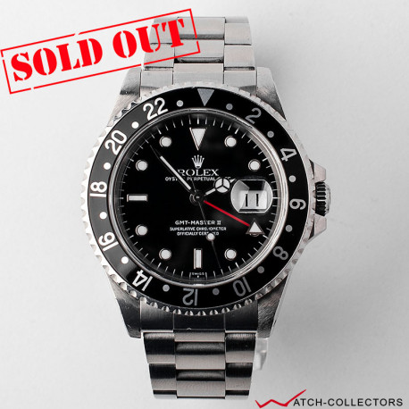Rolex GMT Master II Ref 16710 Black bezel insert Circa 1997