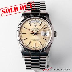 Rolex Day-Date WG Cream Dial Ref 18239 Circa 1991