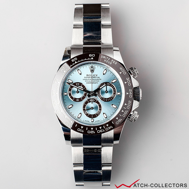 rolex daytona ice blue platinum circa 2018 watch collectors. Black Bedroom Furniture Sets. Home Design Ideas
