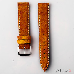 AND2 Riva Camel Suede Leather Strap (Beige Stitch)