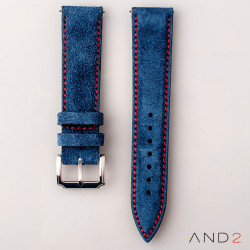 AND2 Kingsley Ocean Blue Suede Leather Strap