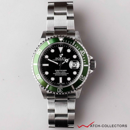 Rolex Green Submariner Ref 16610LV Circa 2005