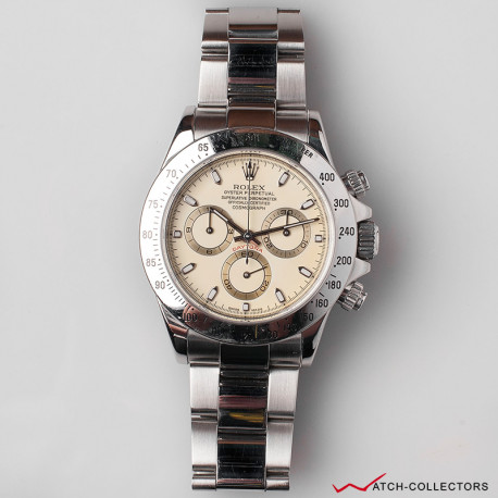 Rolex Daytona Ref 116520 CREAM Dial Aka PANNA Circa 2001