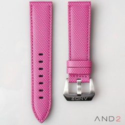 AND2 Pink Comex Leather Strap 22mm
