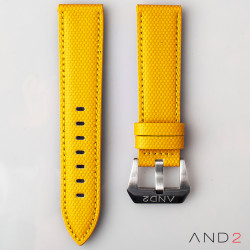 AND2 Yellow Comex Leather Strap 22mm