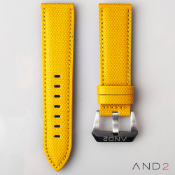 AND2 Yellow Comex Leather Strap 24mm