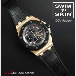 RUBBER B for AP Royal Oak Offshore 42mm - SwimSkin® Alligator