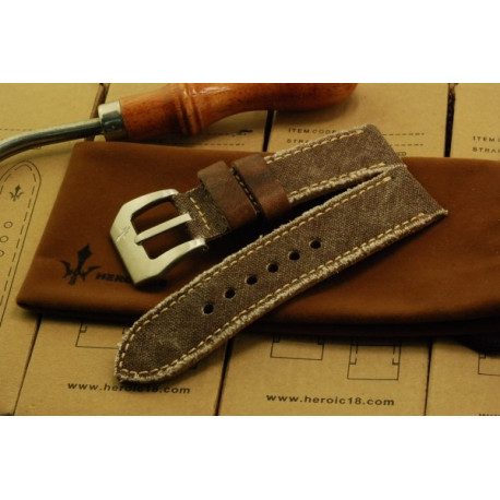 Brown Canvas x Vintage Antique Bister Leather